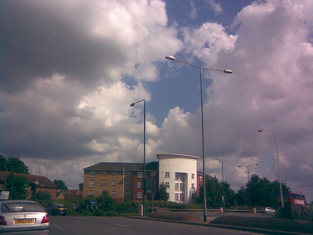 Roundabout at junction of Winston Way and Ilford Lane