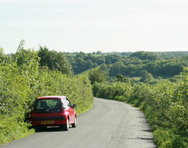 2009 : Minor road into the Mendips