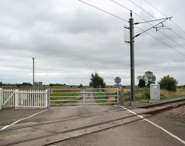 View across level crossing