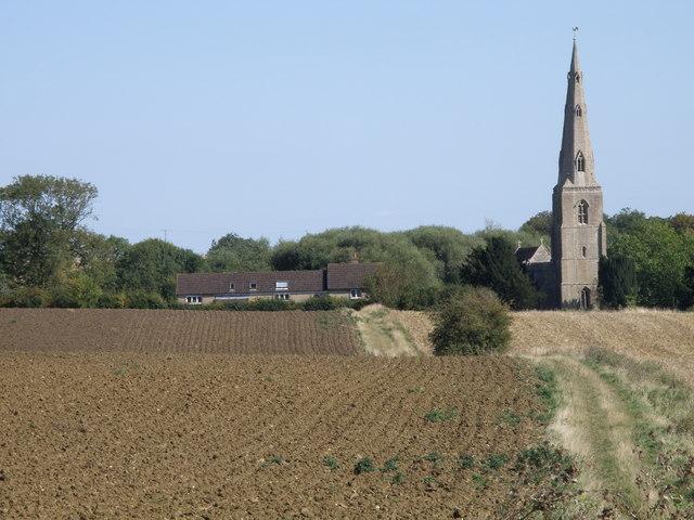 View towards Brington church