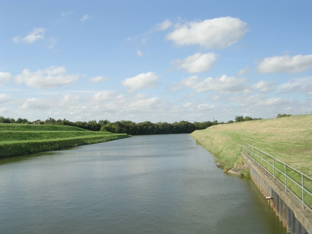Hobhole Drain - viewed from Hobhole Pumping Station