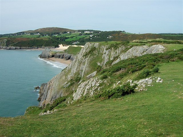 Pobbles Beach & Three Cliffs Bay