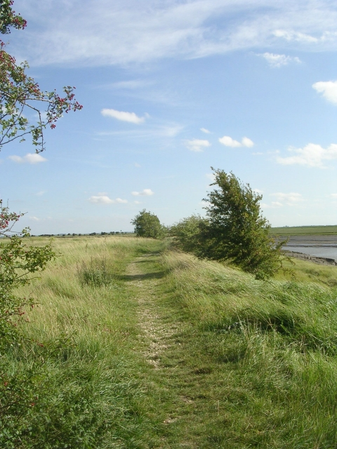 Footpath at the side of Hobhole Pumping Station