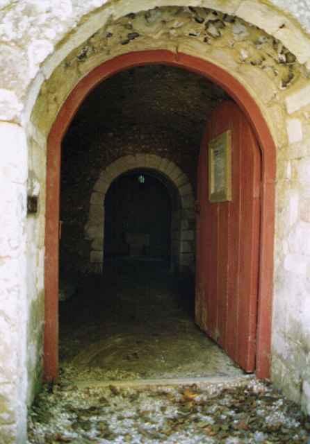 Entrance to the Crypt of St Nicholas, Chilton Candover