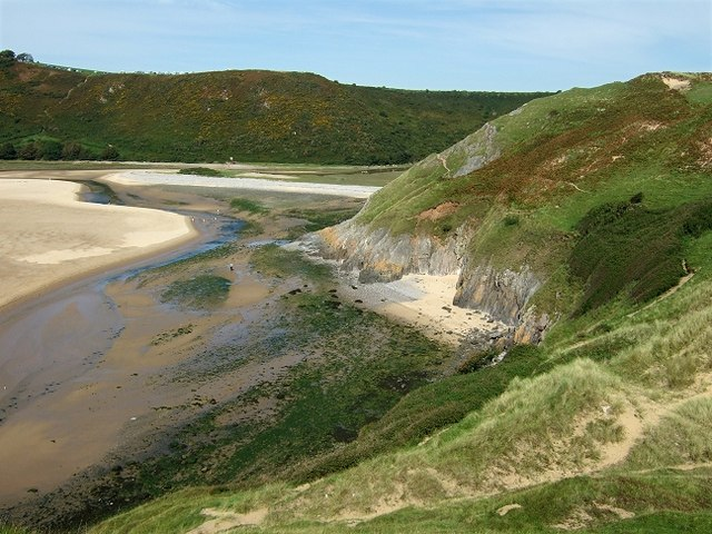 Pennard Burrows & Pennard Pill, Three Cliffs Bay