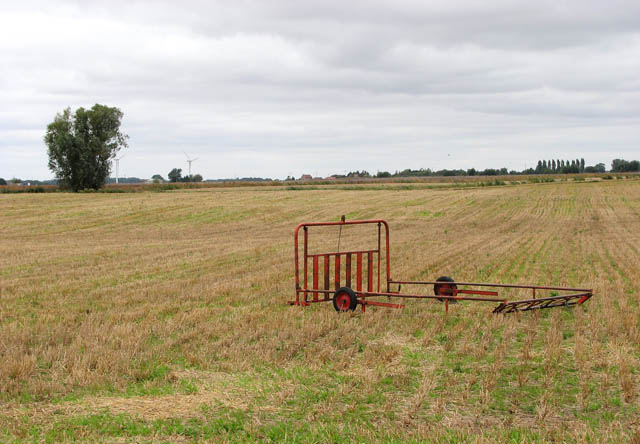 Stubble field in Euximoor Fen