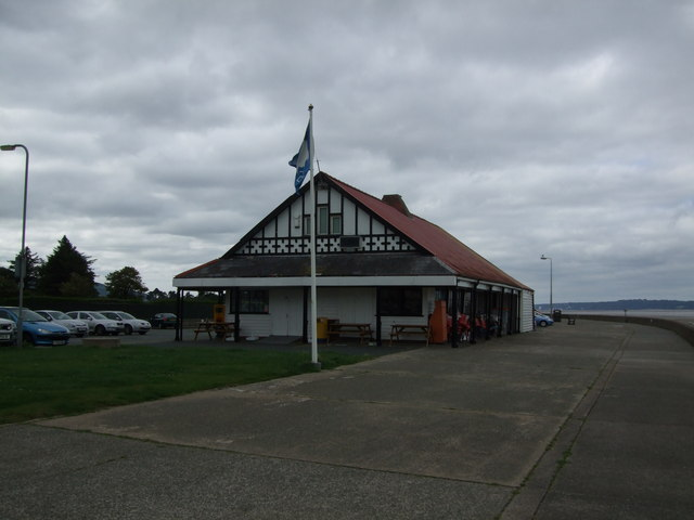 Sea front cafe at Llanfairfechan
