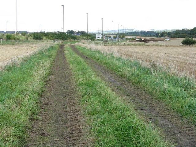 Farm track, looking towards Burnbrae