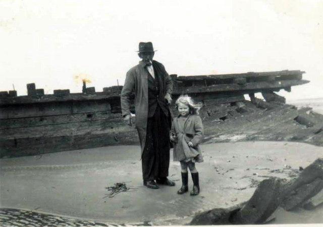 The Wreck on Pembrey Beach 1950