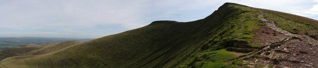 View East/South East from Craig Cwm Llwch