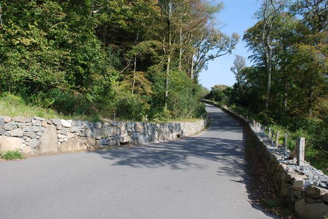 Ffordd newydd Rhiw - New Rhiw road