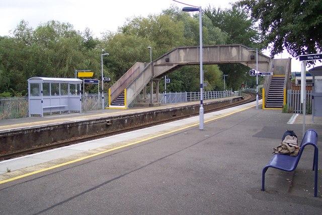 Chilham Station Platforms and footbridge