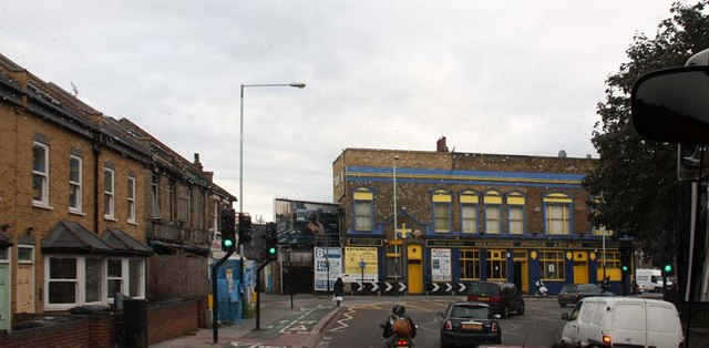 Broad Lane into Fountayne Road, London N15