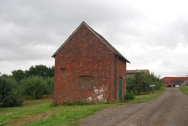 Small brick barn/tool shed, Pippins Farm