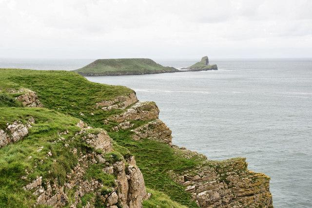 Cliffs west of Rhossili