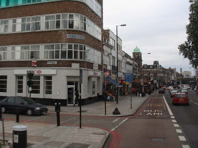Seven Sisters Road with Wilberforce Road on left