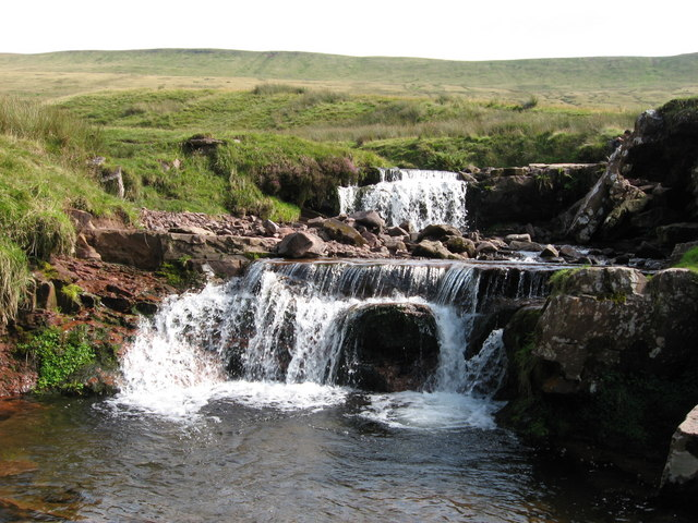 Falls on the Blaen Taf Fawr