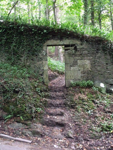 Gate into Hermitage Wood