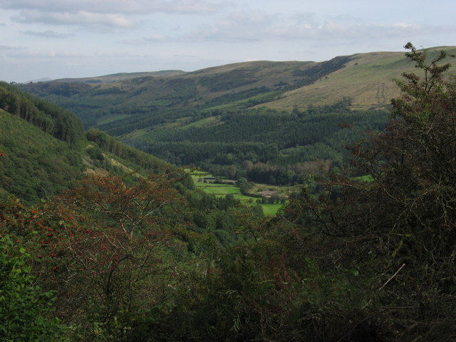 View towards Glyn Collwn from Taff Trail