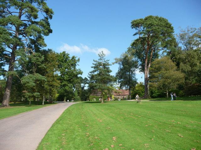 Mid Devon : Knightshayes Court, Driveway, Grass & Shop