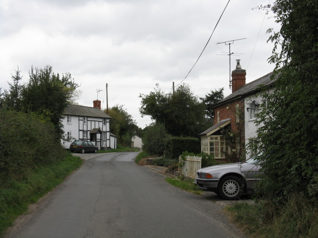 Cottages & Lane Junction, Hyde Ash