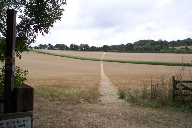 Stour Valley Walk heads to the Blue Downs