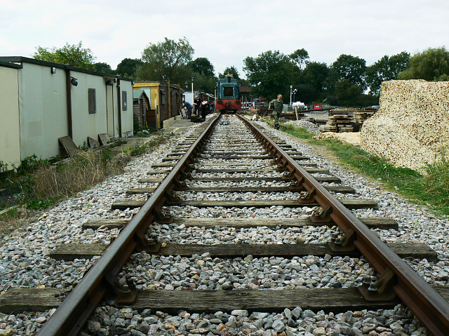 The line into the railyard, Swindon and Cricklade Railway, Blunsdon