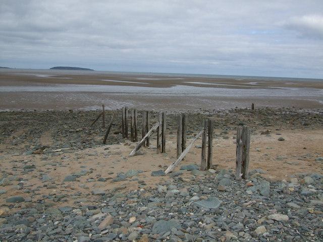 Rusting groynes at Lavan Sands (Traeth Lafan)  Llanfairfechan