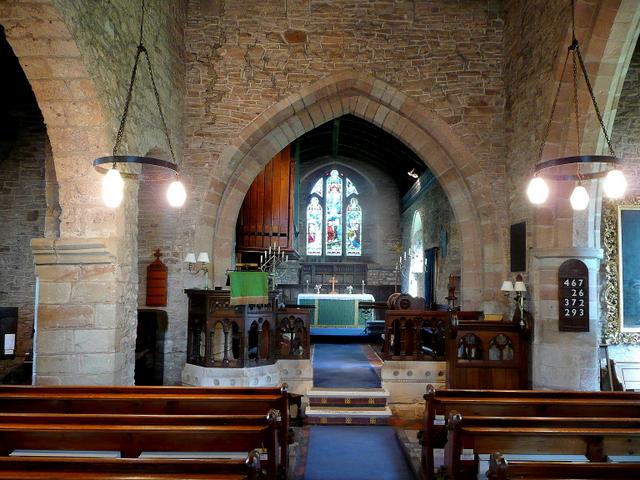 St. Mary's church, Linton - interior