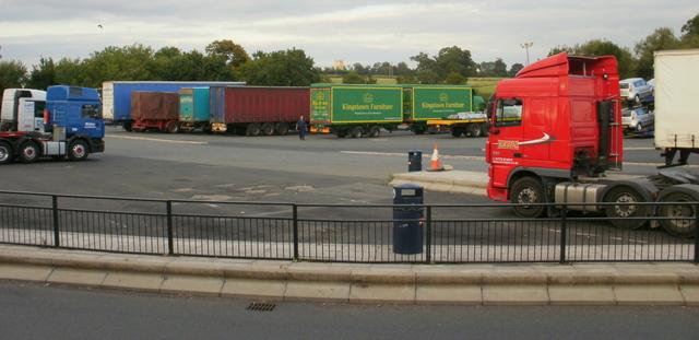 Strensham Services southbound lorry park