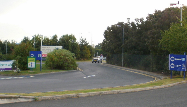 Strensham Services southbound exit road