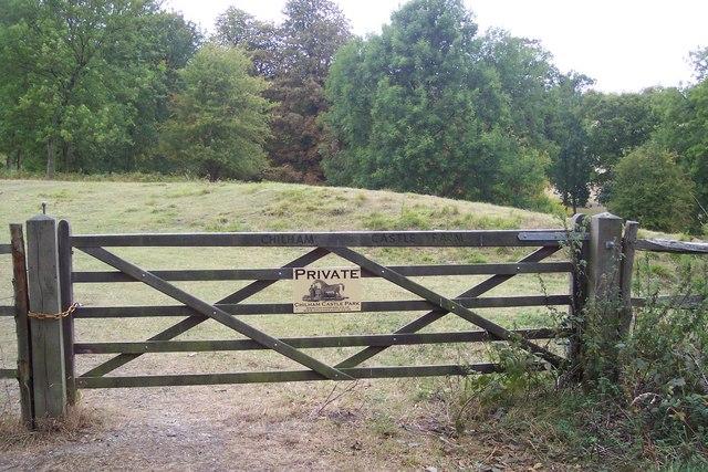 Gate to Chilham Castle Farm