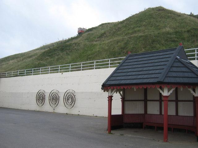 Seafront shelter Saltburn