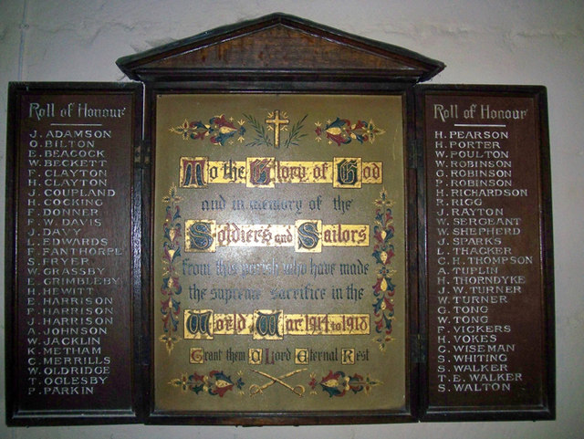 Roll of Honour - Holy Trinity Church