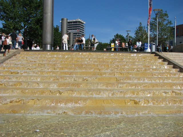 Waterfall steps at the head of Narrow Quay
