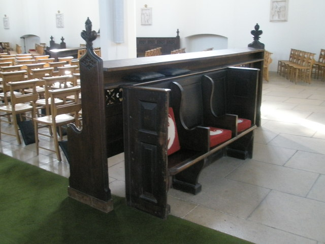 Older seats that survived the cull at Holy Spirit, Southsea