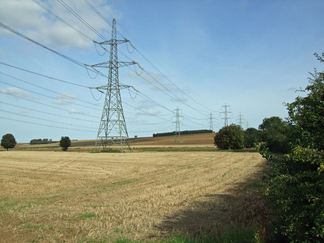Pylons near West Halton