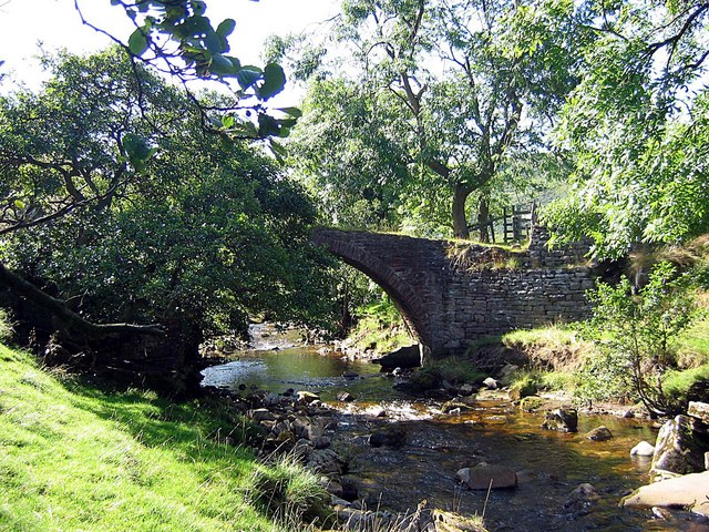 Packhorse bridge over Marske Beck