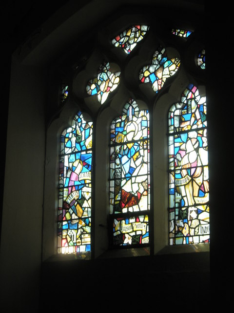 Stained glass window on the south wall at Holy Spirit, Southsea (2)