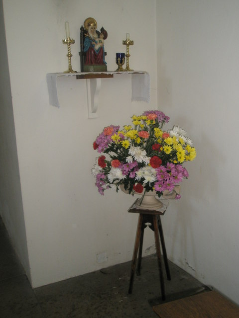 Floral display within Holy Spirit, Southsea