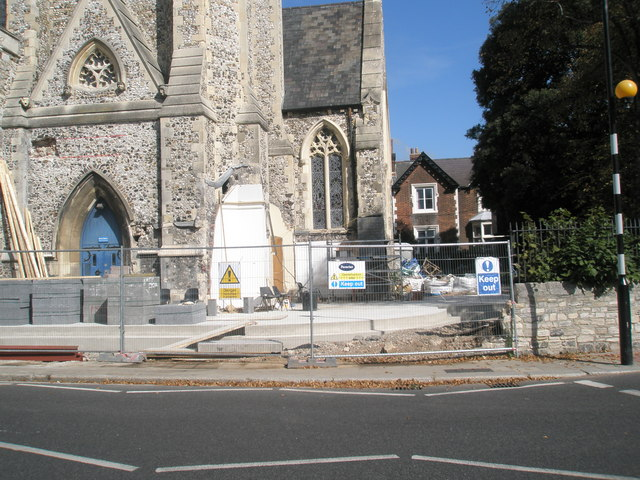 Renovation underway at St Jude's Southsea