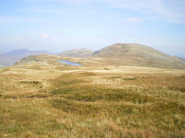 Slopes below Glyder Fach, and Llyn Caseg-fraith