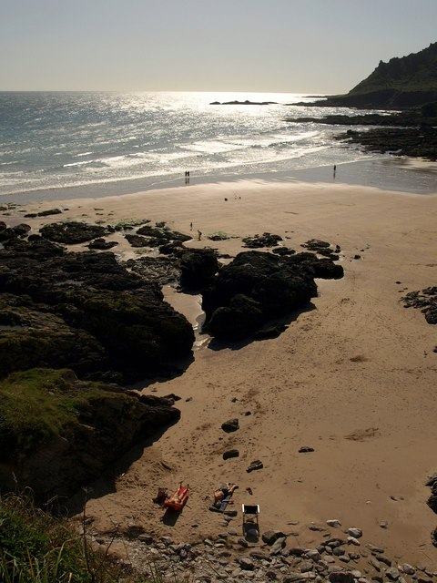 September sun at Lannacombe Beach
