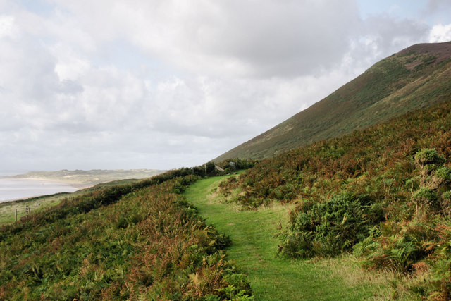 The footpath to Hillend