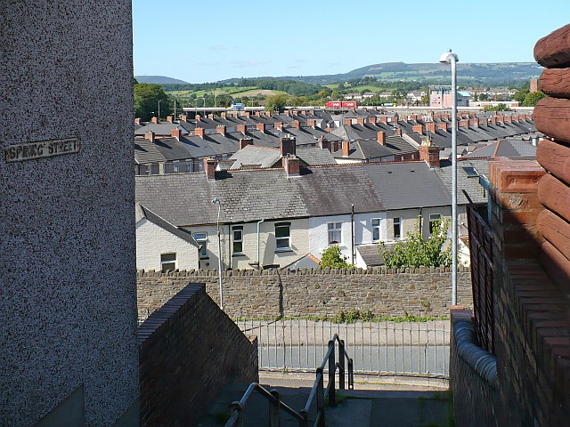 View across roofs