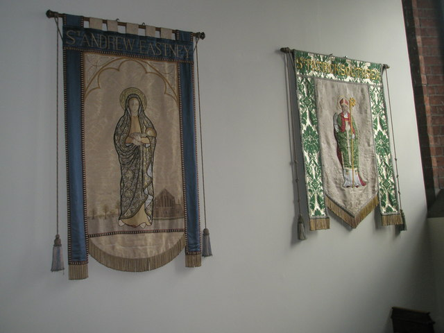 Banners on the wall at St James, Milton (2 & 3)