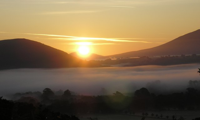 Cloud inversion at sunrise, Braithwaite Howe