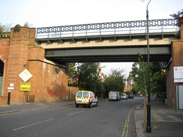 Herne Hill: Burbage Road railway bridge, SE24