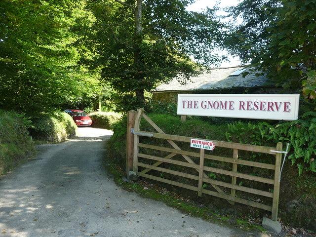 North Devon : The Gnome Reserve Entrance
