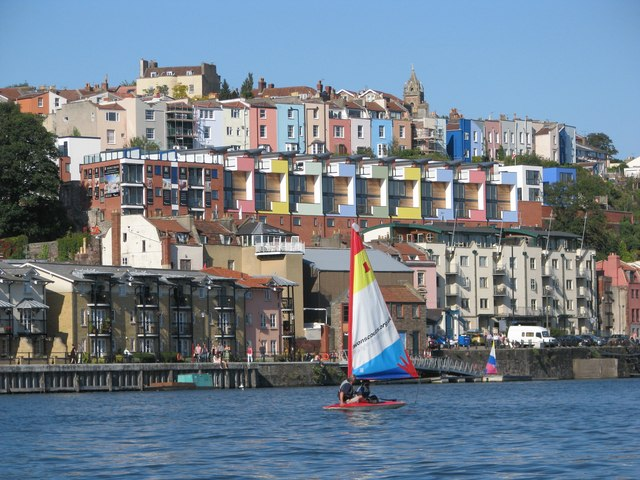 Brightly painted houses above the Floating Harbour